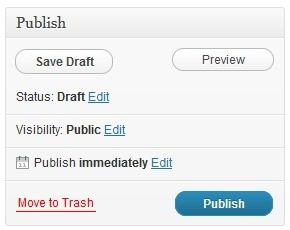 Publishing a WordPress Post