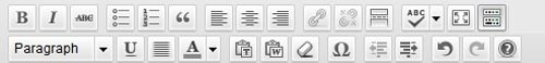 Visual Editor Buttons in WordPress
