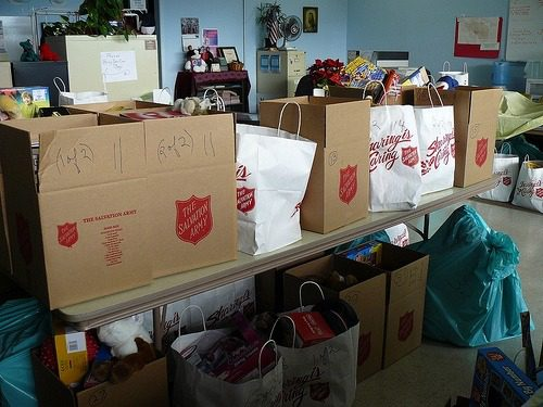 Salvation Army Christmas donations