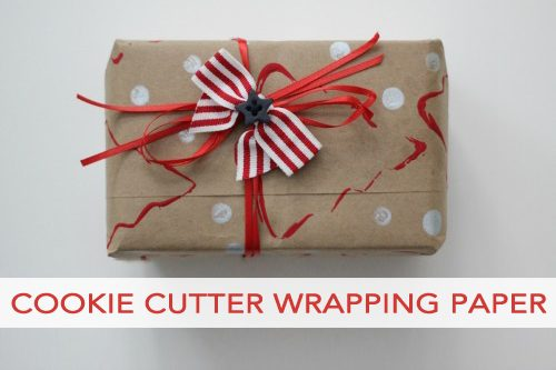 Cookie Cutter Stamped Wrapping Paper
