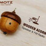 Motz Tiny Wooden Acorn Speaker
