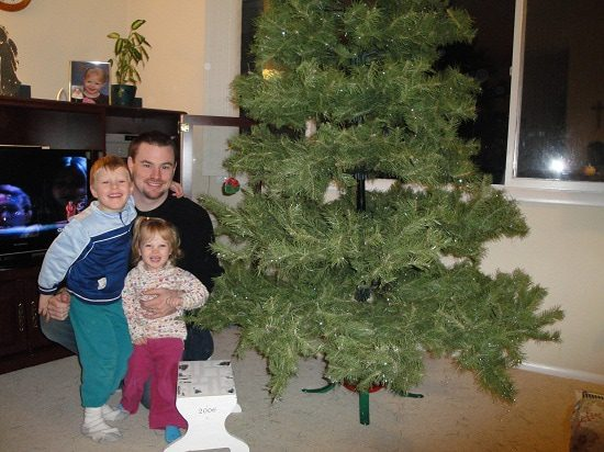 Artificial Christmas Tree Put Together