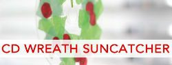 101 Days of Christmas: CD Wreath Suncatcher