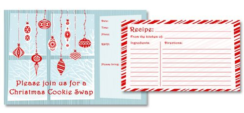 Cookie Swap Printables