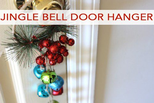 101 Days of Christmas: Jingle Bell Door Hanger