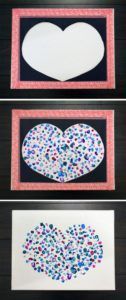 Read more about the article 101 Days of Christmas: Fingerprint Heart Canvas