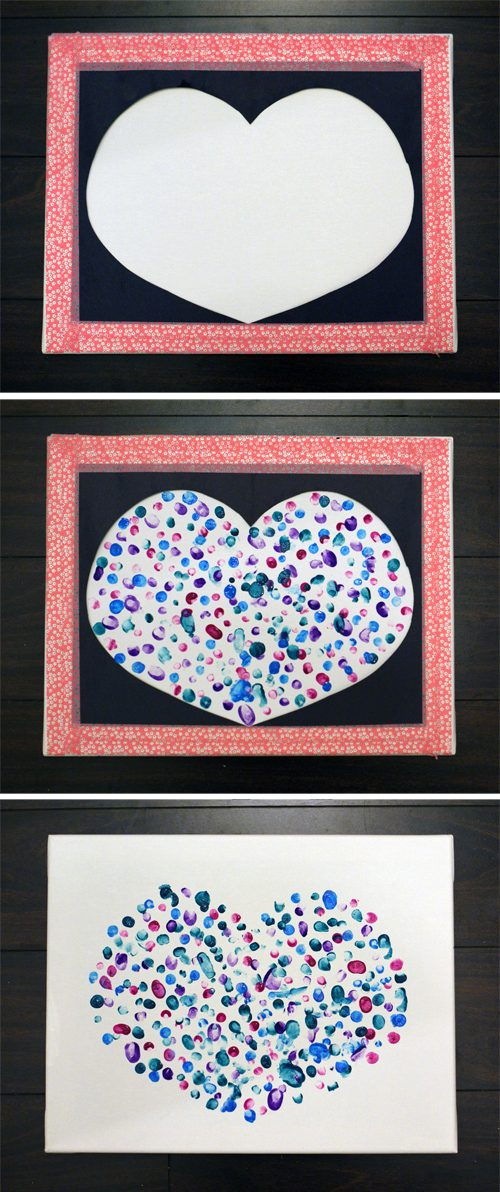 101 Days of Christmas: Fingerprint Heart Canvas