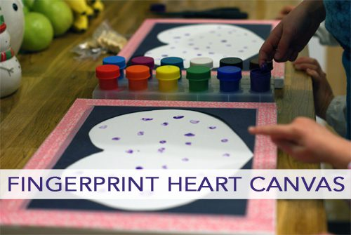 Fingerprint Heart Canvas