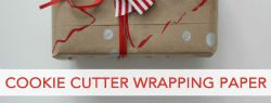 101 Days of Christmas: Cookie Cutter Wrapping Paper