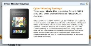Hot Cyber Monday Deals at Amazon.com {Kindle Fire $129}