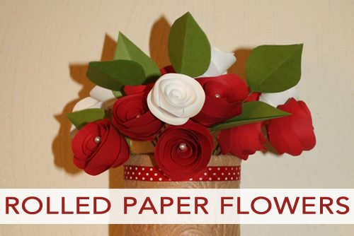 101 days of christmas rolled paper flower arrangement life your way how to make rolled paper flower arrangements mightylinksfo