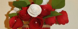 101 Days of Christmas: Rolled Paper Flower Arrangement