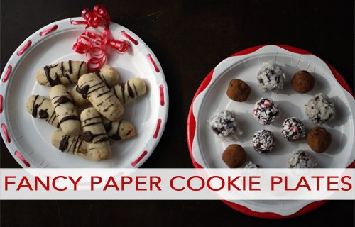 101 Days of Christmas: Fancy Paper Cookie Plates