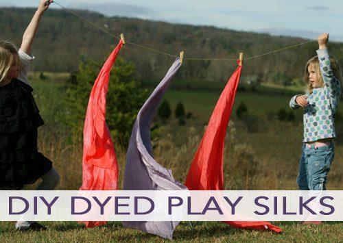 101 Days of Christmas: DIY Dyed Play Silks