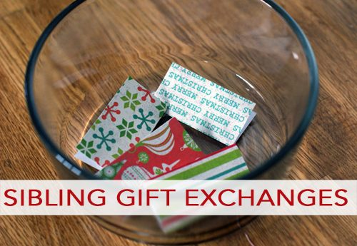 Sibling Gift Exchange Ideas