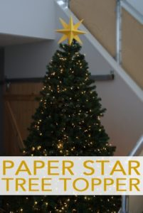 101 Days of Christmas: Paper Star Tree Topper