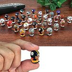 Teenymates NFL Figure Set of 32: Collectible 1 Inch Tall Quarterback Figures