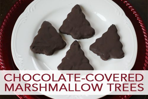 101 Days of Christmas: Chocolate-Covered Marshmallow Trees