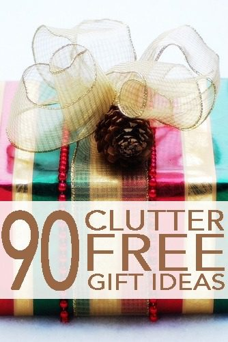 90 Clutter-Free Gift Ideas
