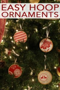 101 Days of Christmas: Easy Hoop Ornaments