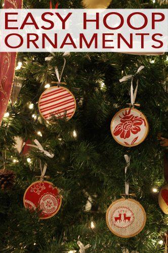 101 Days of Christmas: Easy Hoop Ornaments