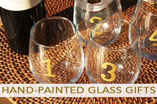 how to make hand-painted glass gifts
