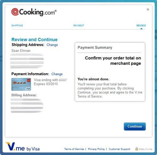 Checkout with V.me by Visa