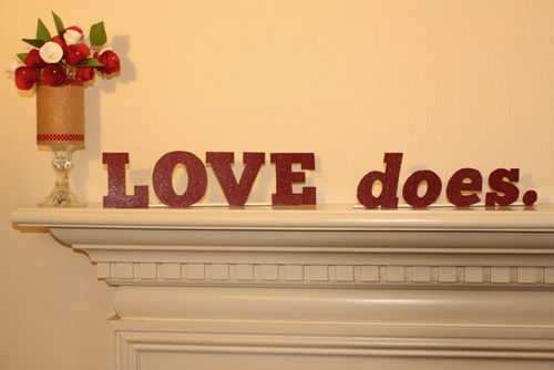 how to make words for your mantel