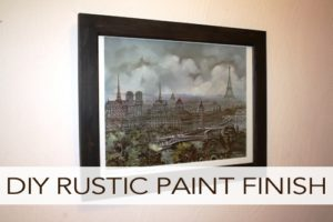 DIY Rustic Paint Finish