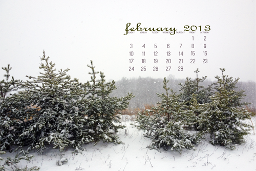 February 2013 Desktop Calendar