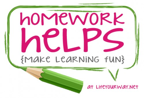 Homework Helps {Make Learning Fun} | lifeyourway.net