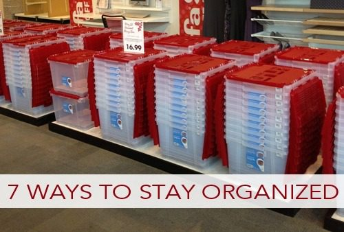 7 Ways to Stay Organized All Year Long | lifeyourway.net