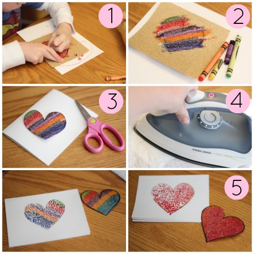 Sandpaper Printed Valentines Collage-1