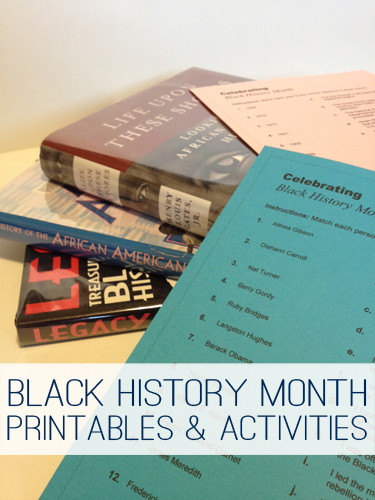 Black History Month Printables & Activities