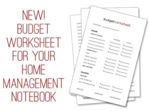 FREE Budget Worksheet Printable!
