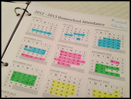 homeschooling with six week terms