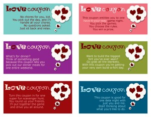 Printable Valentine's Day Coupons for Kids