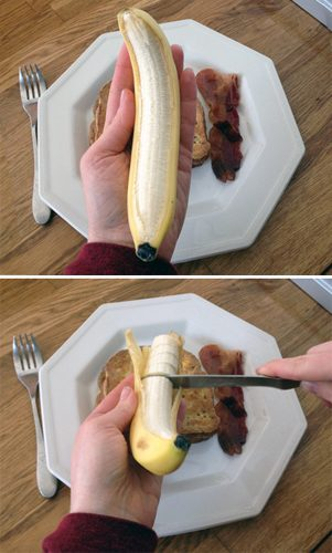 The Easy Way to Slice a Banana at easyhomemade.net