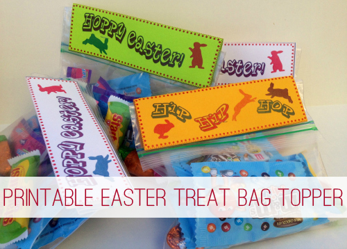 Printable Easter Treat Bag Topper at lifeyourway.net
