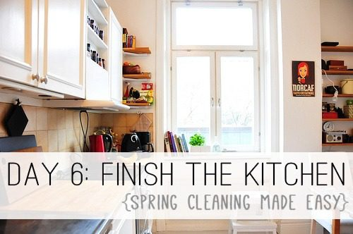 Day 6: Finish the Kitchen {Spring Cleaning Made Easy} at lifeyourway.net