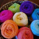 Yarn Wrapped Rainbow Printed Bunting