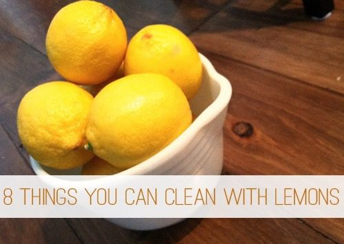 how to clean lemons at home