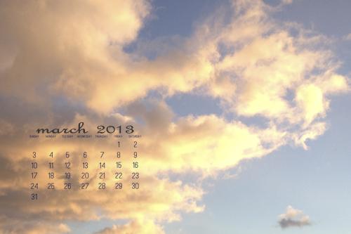 March 2013 Desktop Calendar