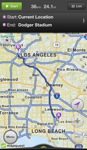 MapQuest Mobile App