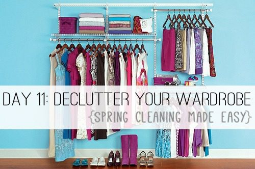 Day 11: Declutter Your Wardrobe {Spring Cleaning Made Easy} at lifeyourway.net