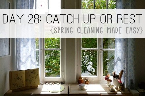 Day 28: Catch Up or Rest {Spring Cleaning Made Easy} at lifeyourway.net