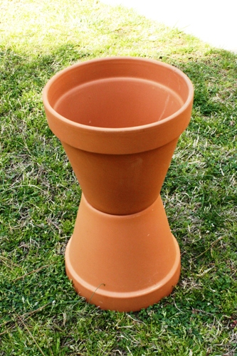 how to make a birdbath from terra cotta pottery