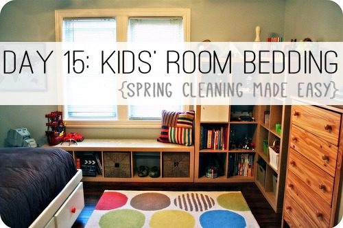 Day 15: Kids' Room Bedding {Spring Cleaning Made Easy} at lifeyourway.net
