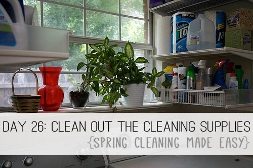 Day 26: Clean Out Your Cleaning Supplies {Spring Cleaning Made Easy} at lifeyourway.net