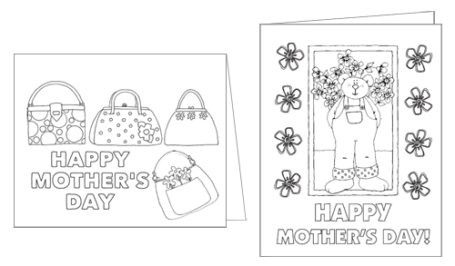 picture relating to Printable Mothers Day Cards for Kids identified as Printable Colour-Me Moms Working day Playing cards \u003e Existence Your Path